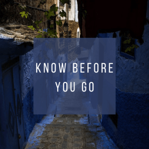 Button to learn what you need to know while planning a trip to Morocco.