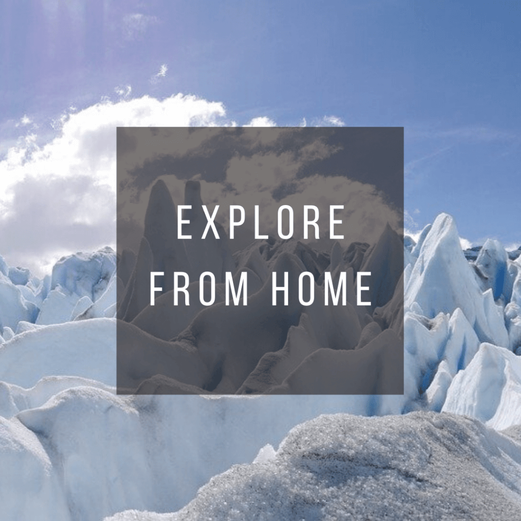 Button to click to learn how to explore Argentina virtually from home.