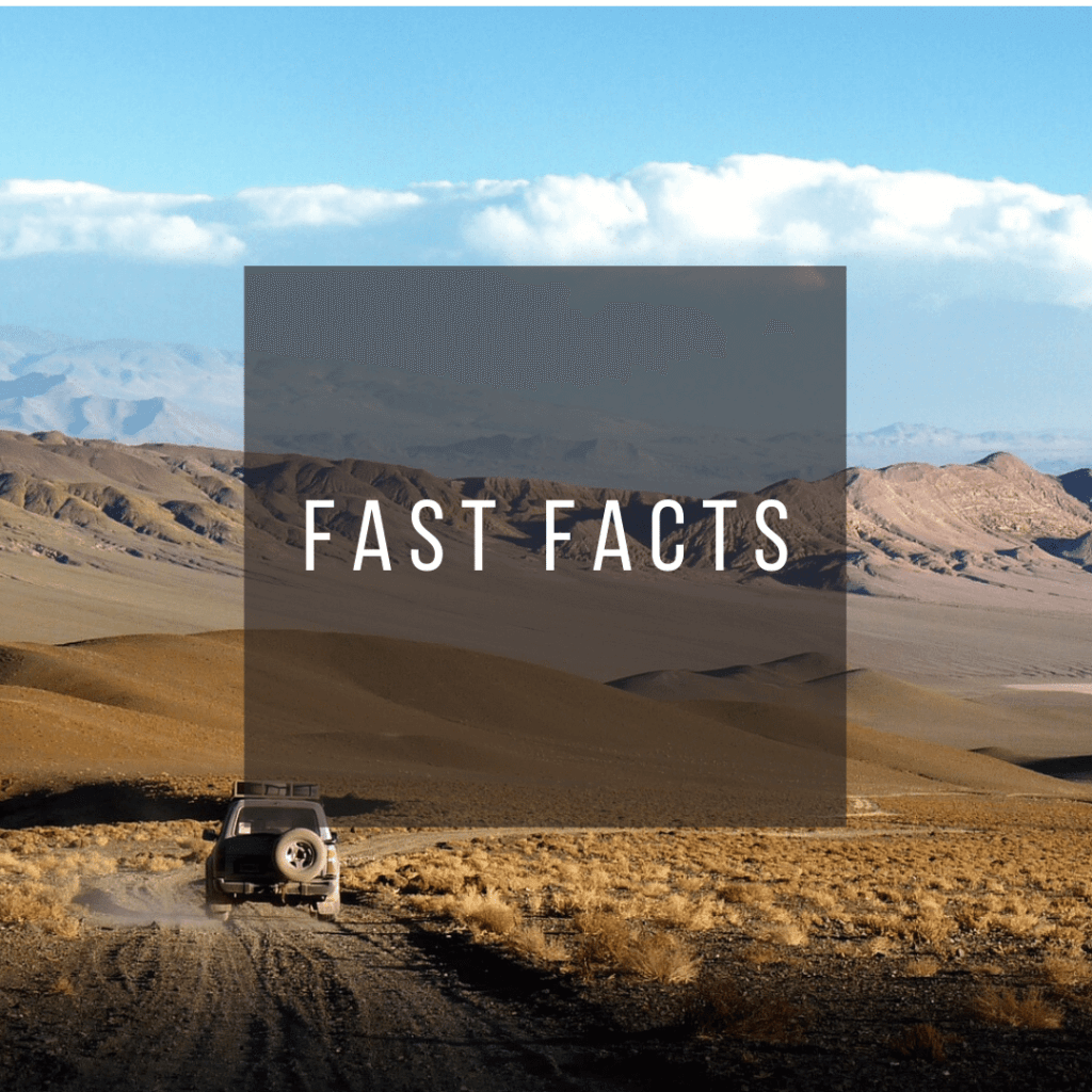 Button to click to learn fast facts about Argentina.