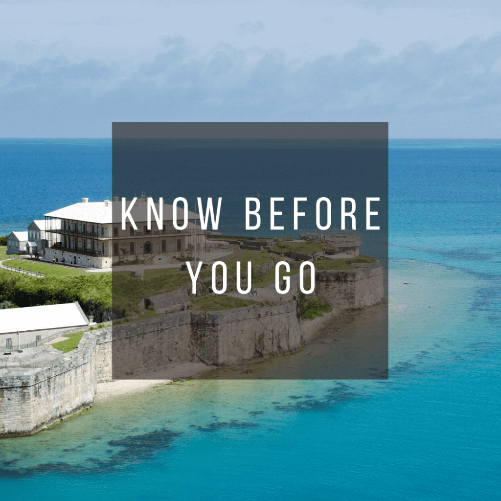 Button to click to learn what you need to know before you go to Bermuda.