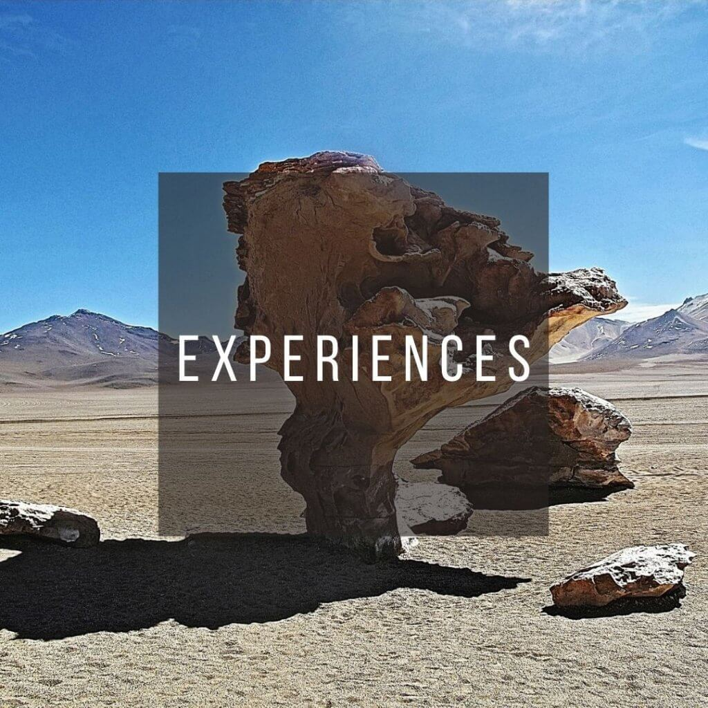 Button to click to learn what to experience in Bolivia.