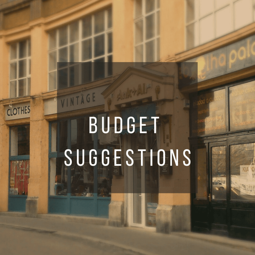 Button to click to learn budget suggestions for a trip to Hungary.