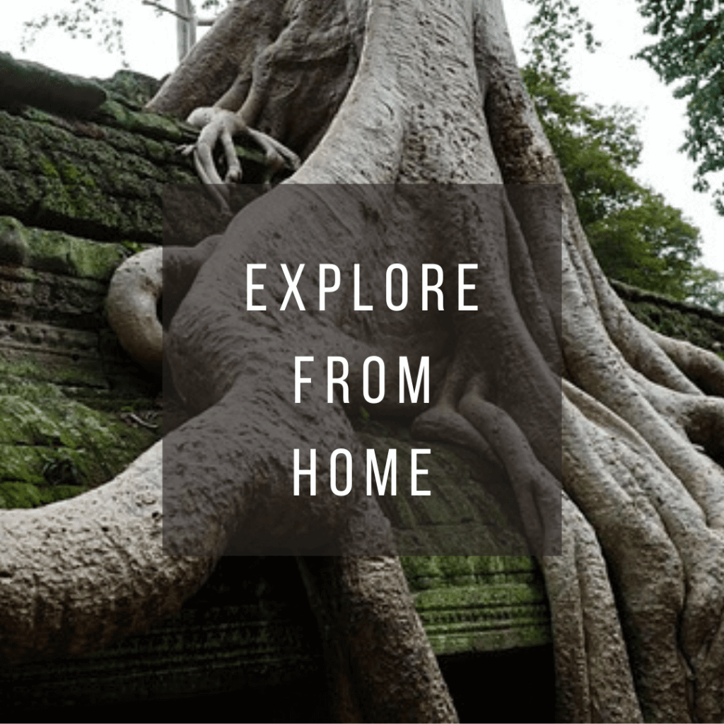 Button to click to virtually explore Cambodia from home.