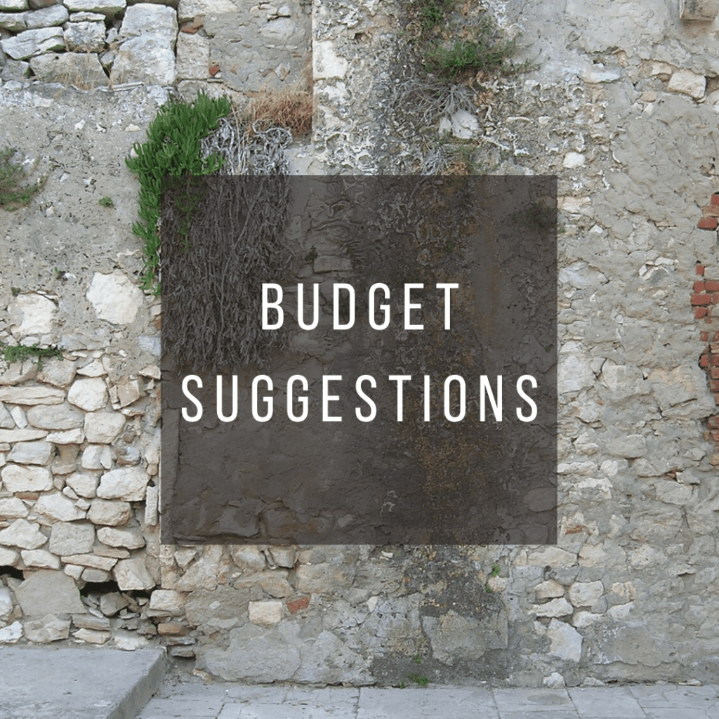 Button to click to learn budget suggestions for a trip to Croatia.
