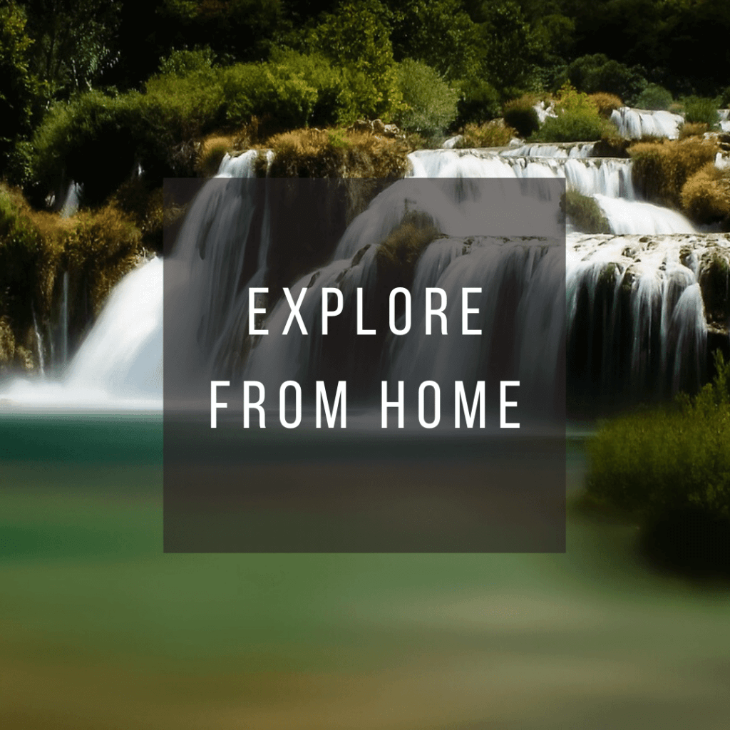 Button to click to learn how to virtually explore Croatia from home.