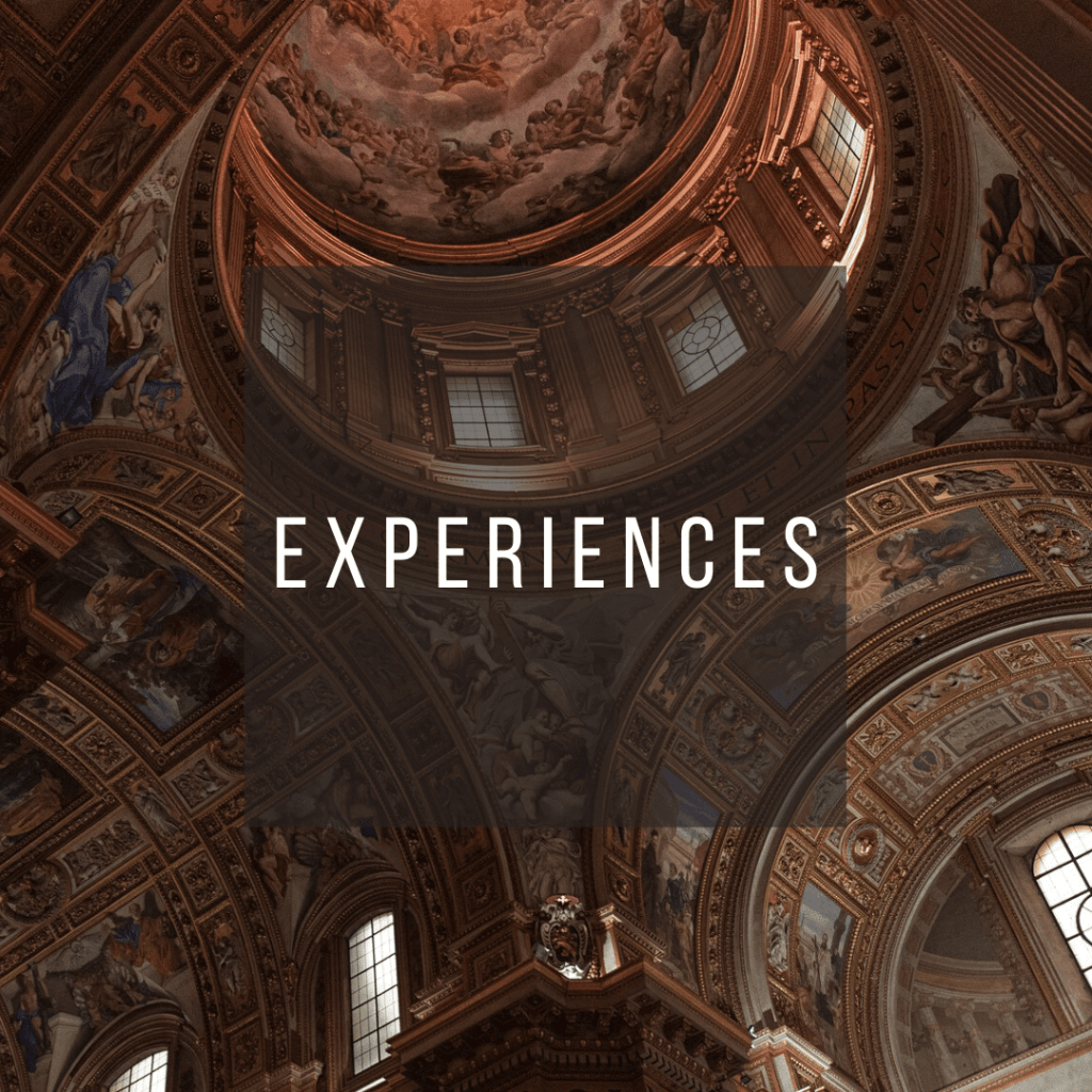 Button to click to learn what to experience on a trip to Italy