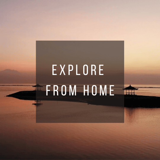 Button to click to virtually explore Indonesia from home.