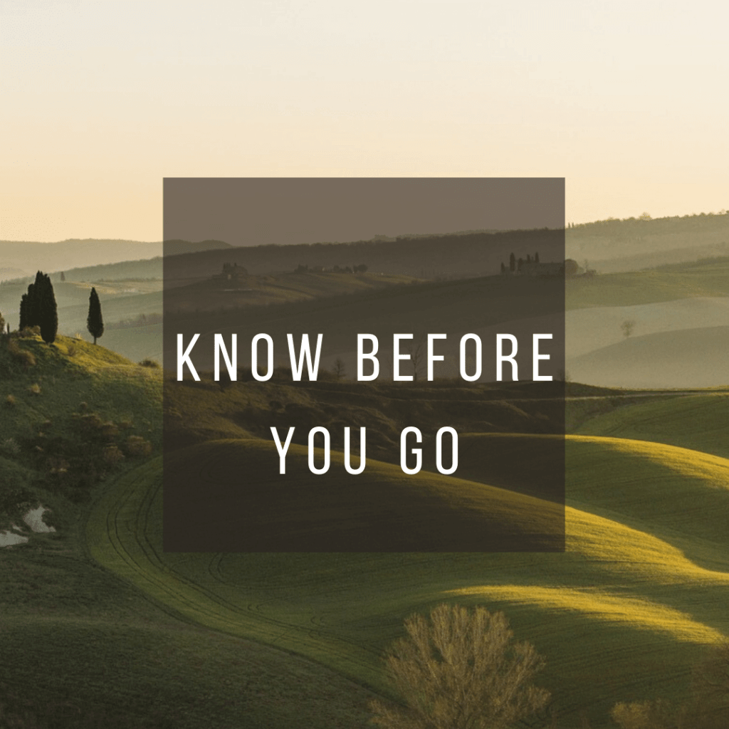 Button to click to learn what you need to know before you go to Italy
