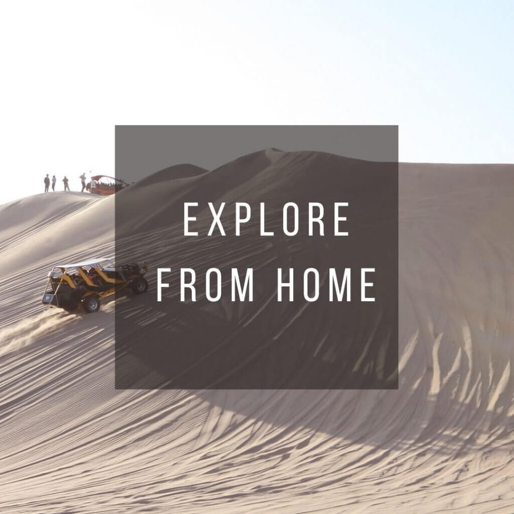 Button to click to learn how to virtually explore Peru from home