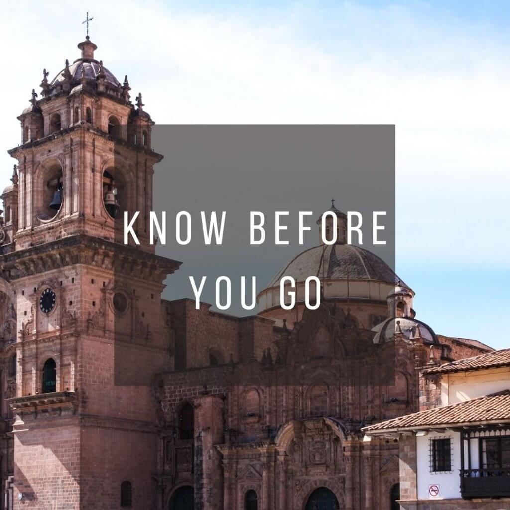 Button to click to learn what you need to know before you go on a trip to Peru