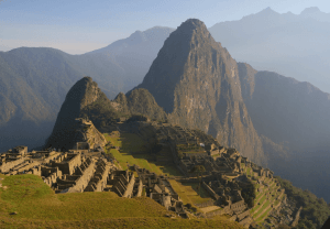 Machu Picchu in Cusco Peru during the day.
