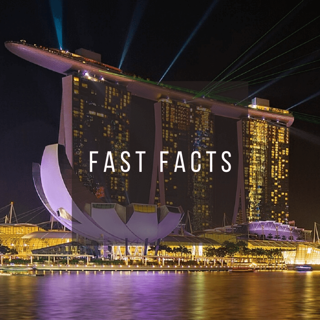 Button to click to learn fast facts about Singapore.