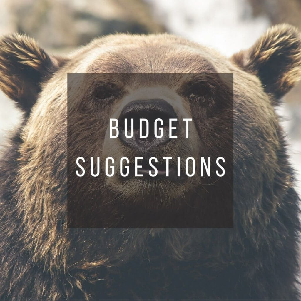 Button to click to learn budget suggestions for a trip to Canada.