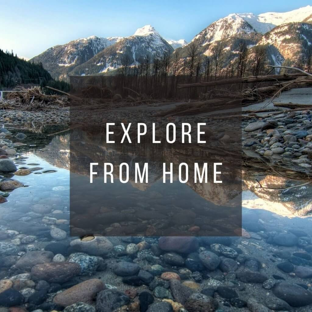 Button to click to learn how to explore Canada virtually from home.