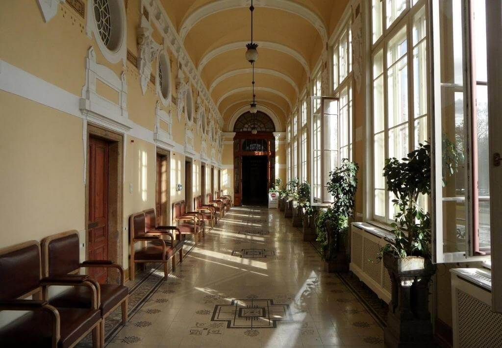 Budapest Bath Hallway