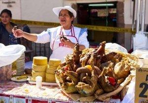 Peruvian Street Food Vendor