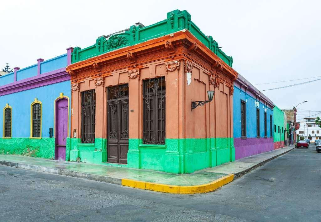 multi colored house in Callao Peru