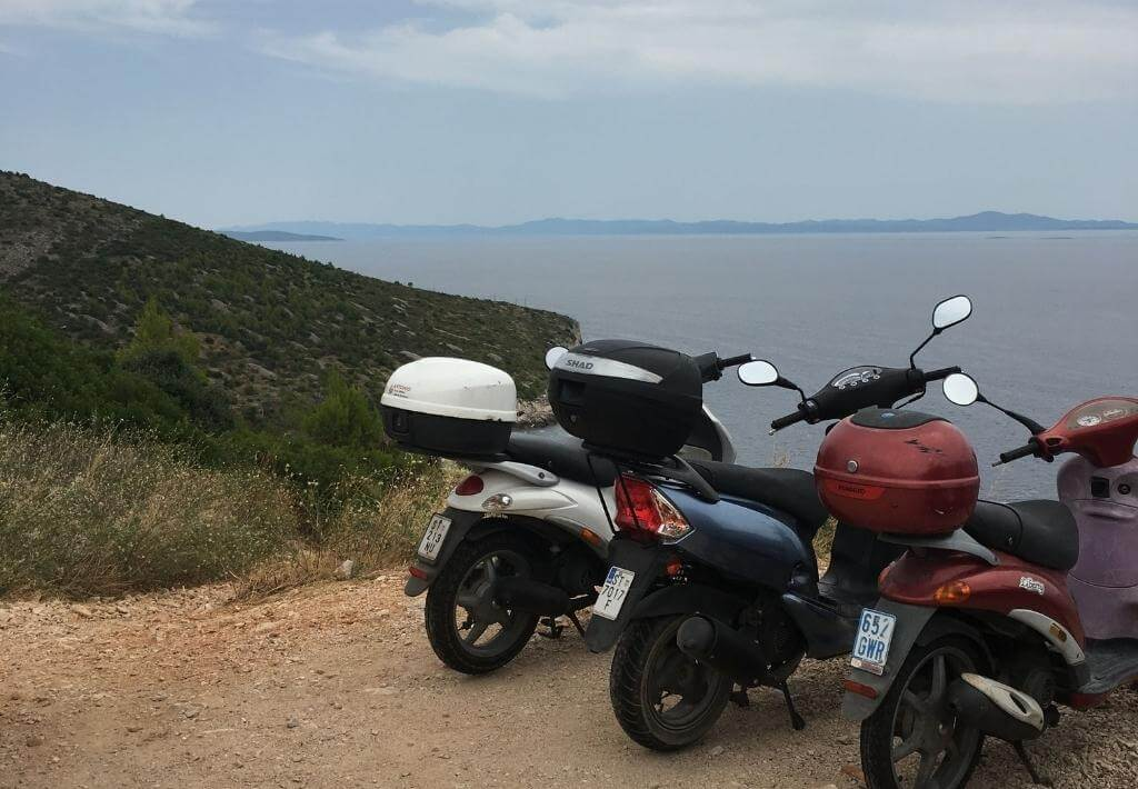 rental scooters that are useful for a day trip to hvar croatia