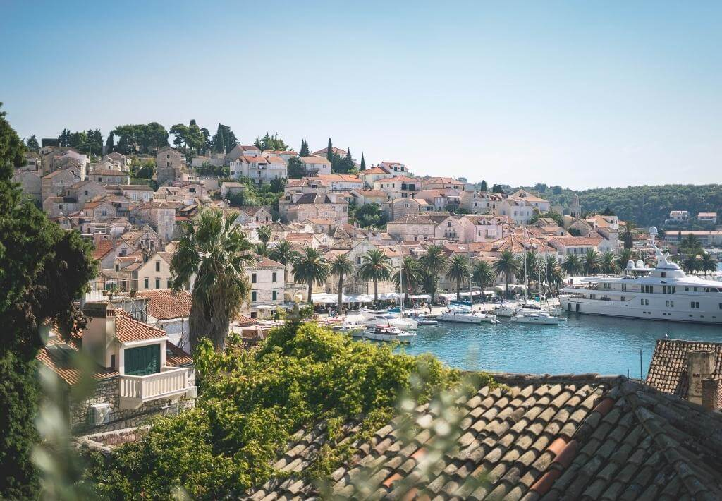 Hvar Town in Hvar Croatia