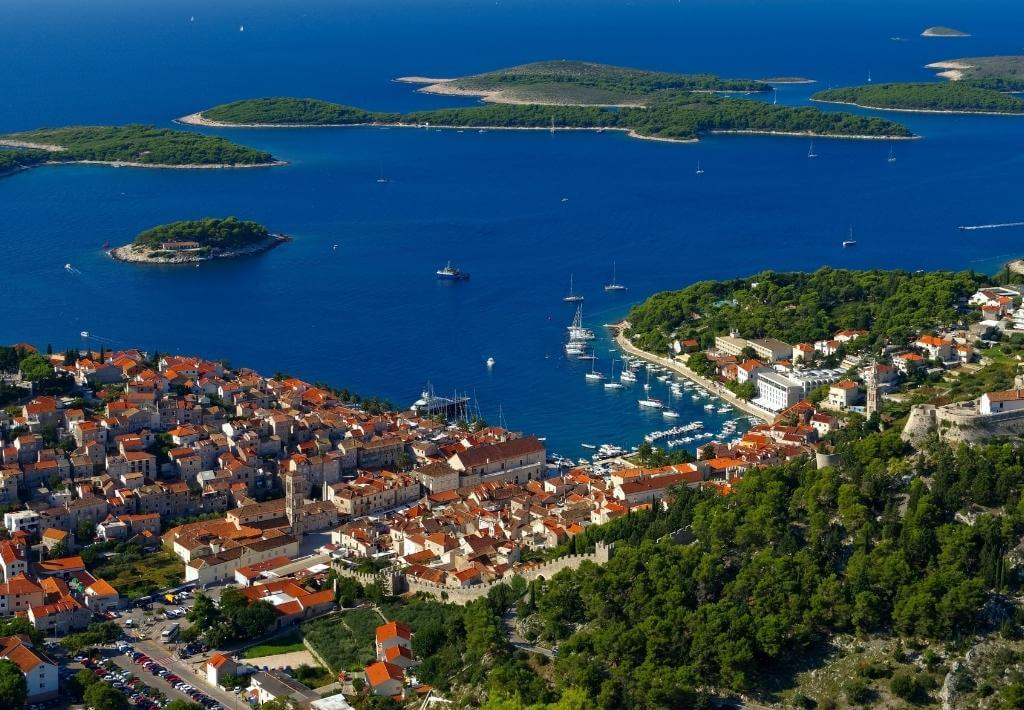 hvar croatia view from above