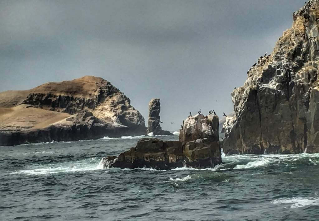 palamino islands with penguins on top in the pacific ocean near lima peru