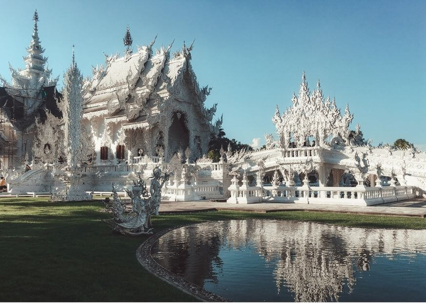 Wat Rong Khun Temple near Chiangmai Thailand