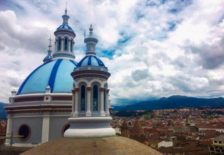 The New Cathedral in Cuenca, Ecuador