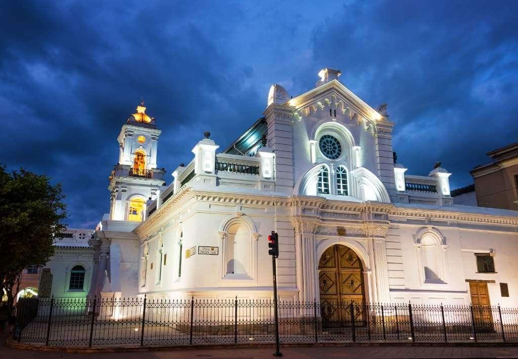 Old Cathedral in Cuenca, Ecuador