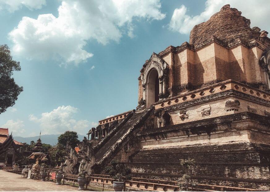 Wat Chedi Luang temple in Chiangmai, Thailand