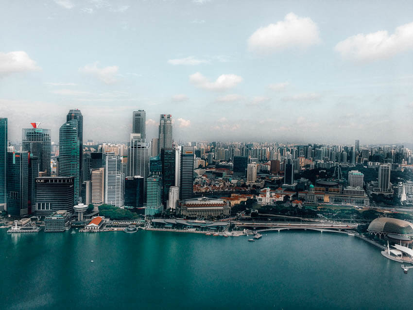 Picture of Singapore city from above