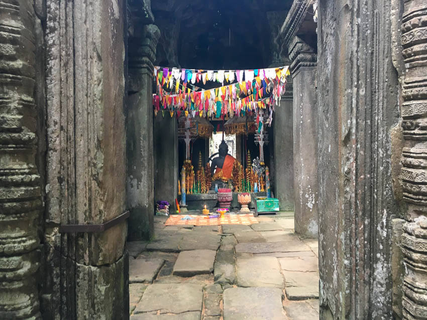 Picture of alter in Angkor Wat in Siem Reap Cambodia