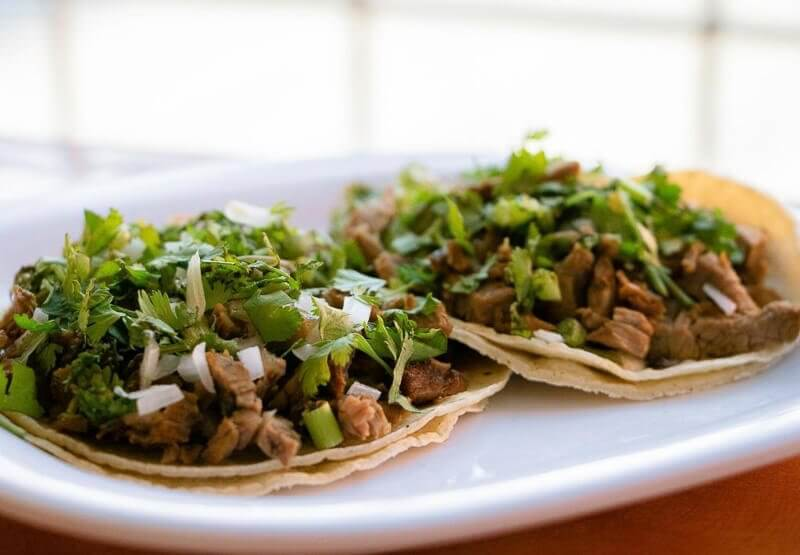Picture of two tacos that can be eaten in Miami Beach