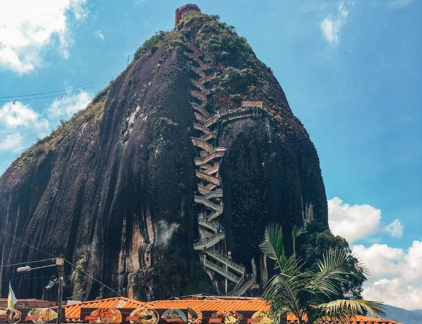 El Penol the big rock in Guatape Colombia