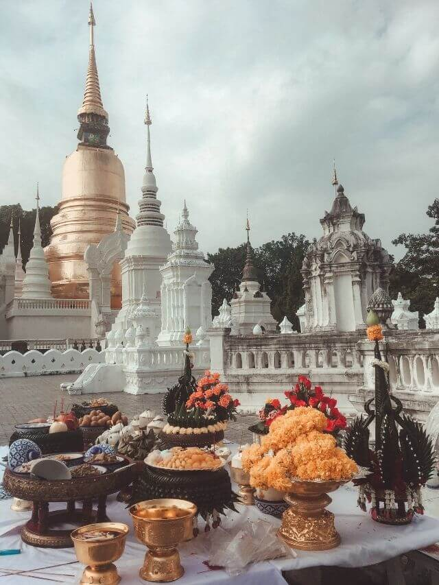One of the best temples in Chiang Mai Thailand (Wat Suan Dok)
