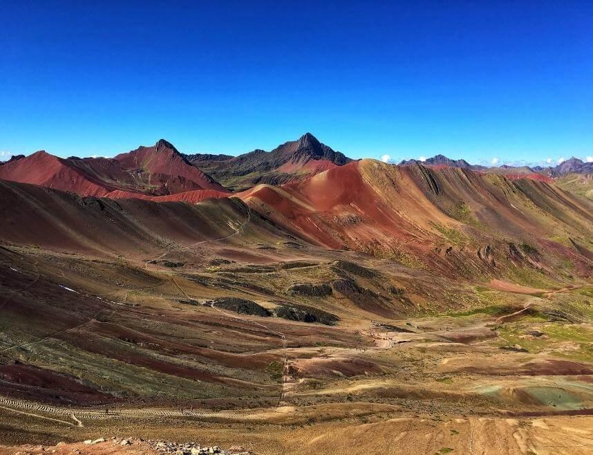 View of the Rainbow Mountain Range in Peru