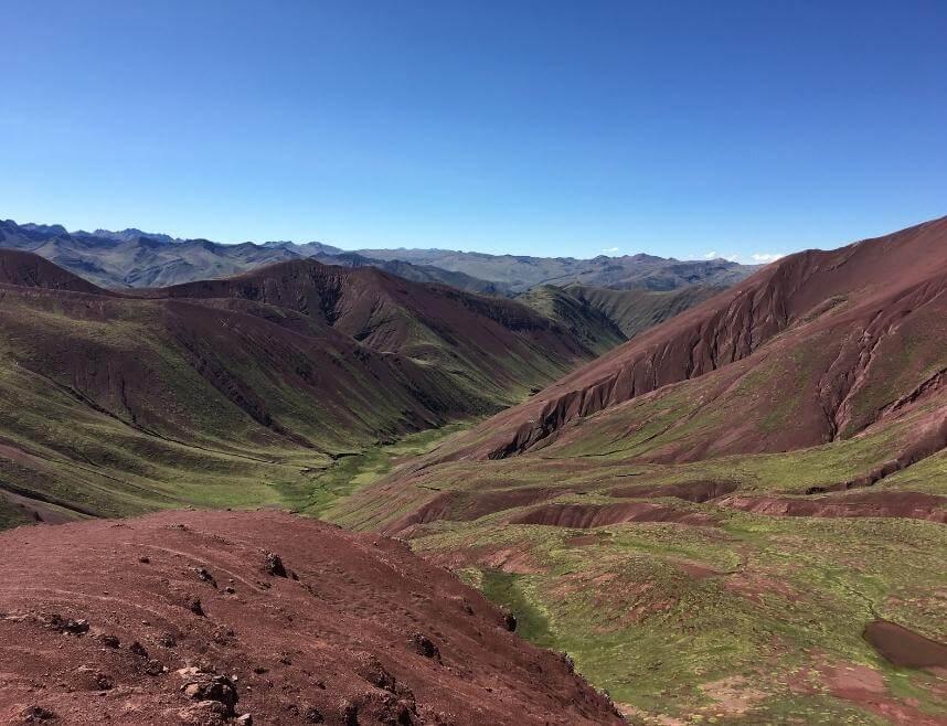 The red valley in Cusco, Peru