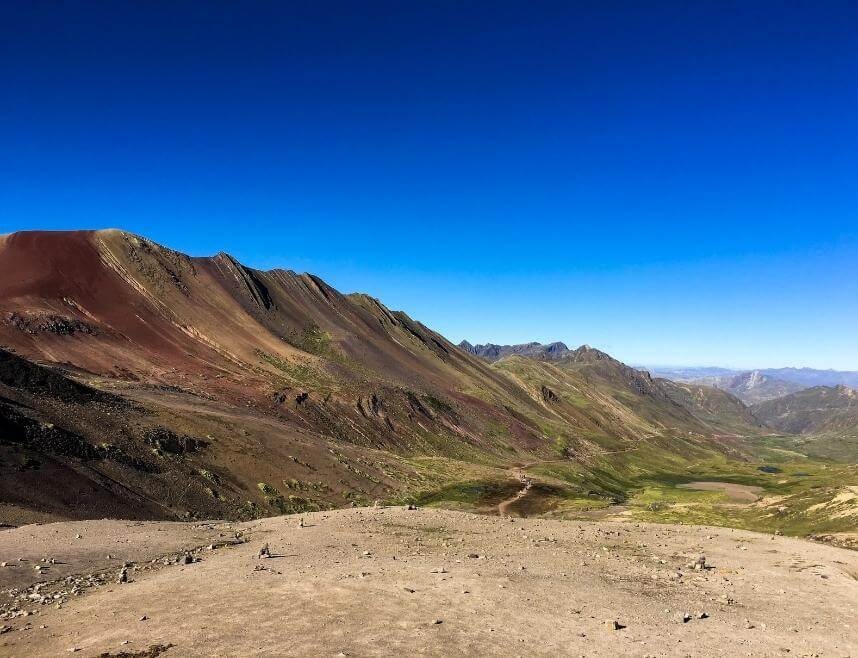 View from the Rainbow Mountain Hike in Peru