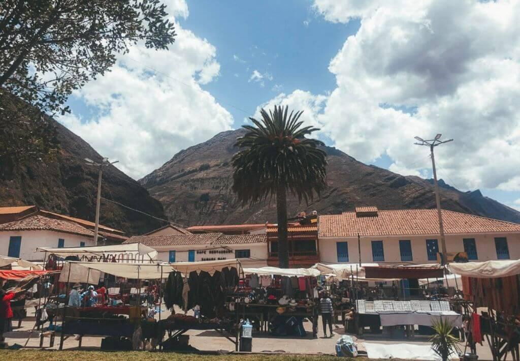 Picture of the Pisac Market or Mercado Pisac