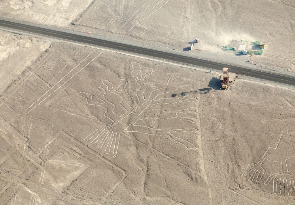 View of the Nazca lines in Nazca, Peru