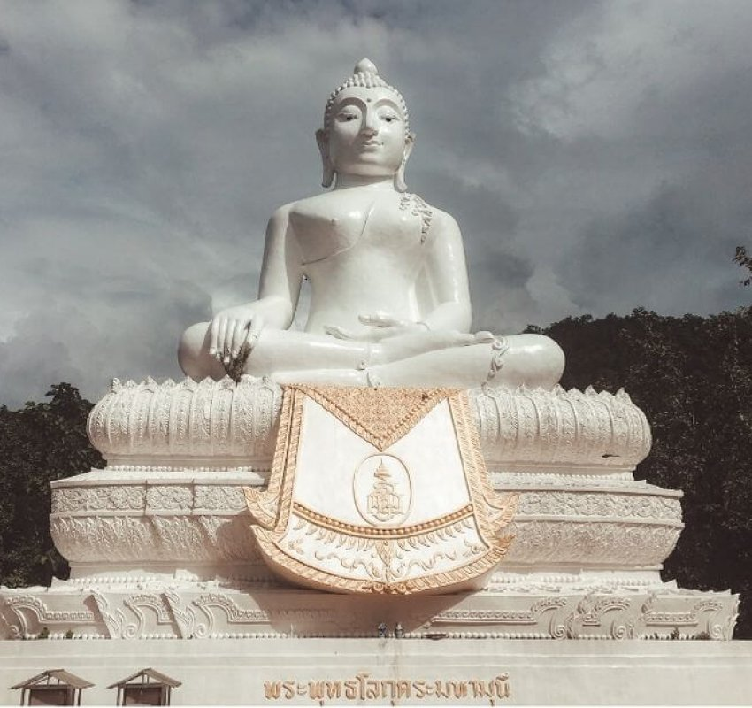 Chedi Phra That Mae Yen Temple in Pai Thailand