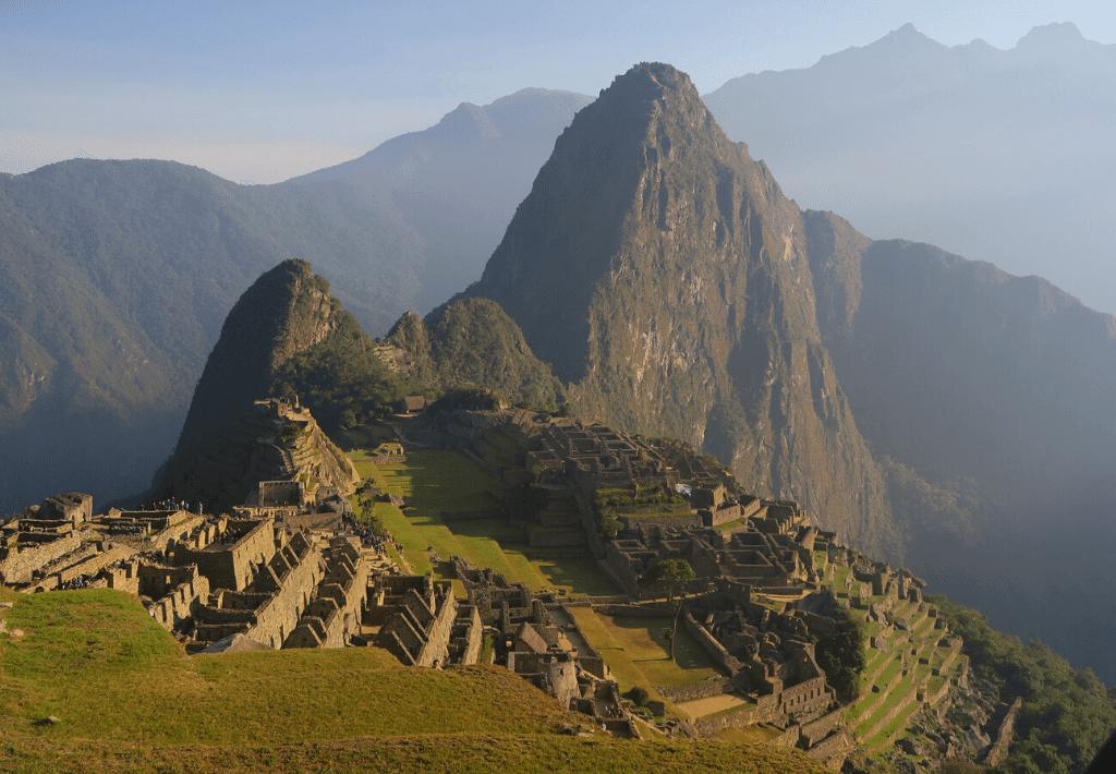 Machu Picchu in Cusco Peru during the day.