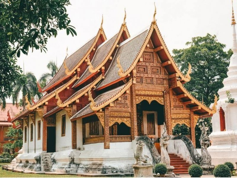 Wat Phra Singh Temple in Chiangmai, Thailand